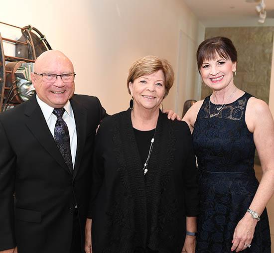 John and Kay Morse with Elizabeth King at WSU Foundation's Fairmount Society