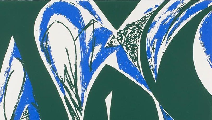 "Artist Lee Krasner 1979 print ""Free Space"" was on display at the Ulrich Museum of Art on Wichita State University campus"