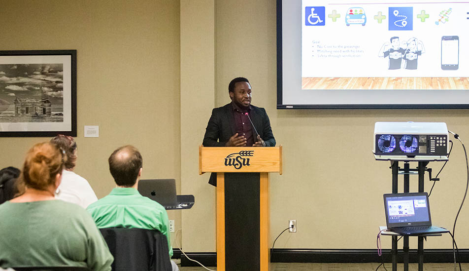 Wichita State student presents at the 3 Minute Thesis Competition