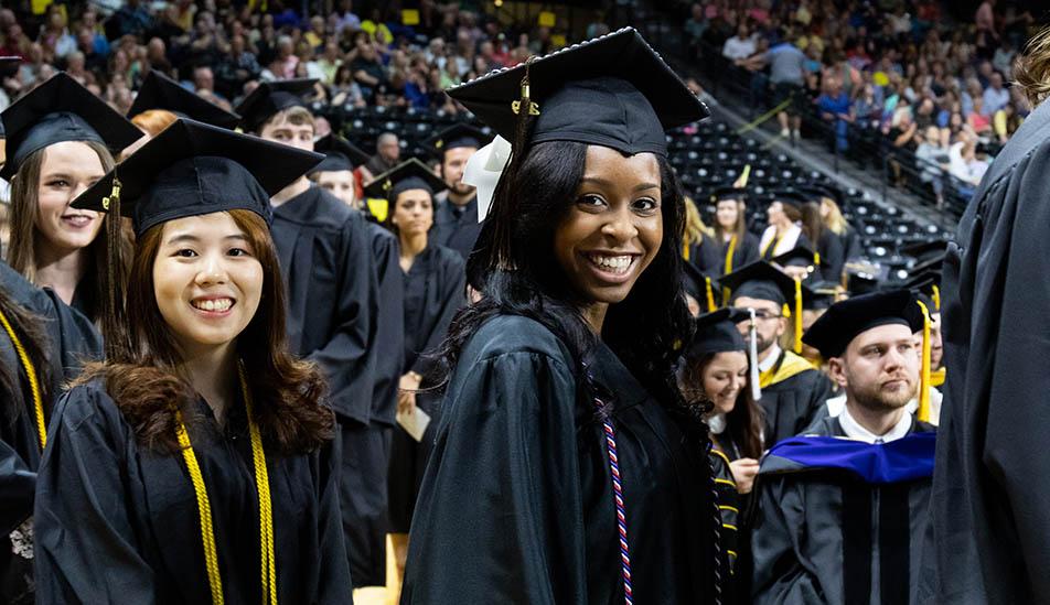 Wichita State student at graduation