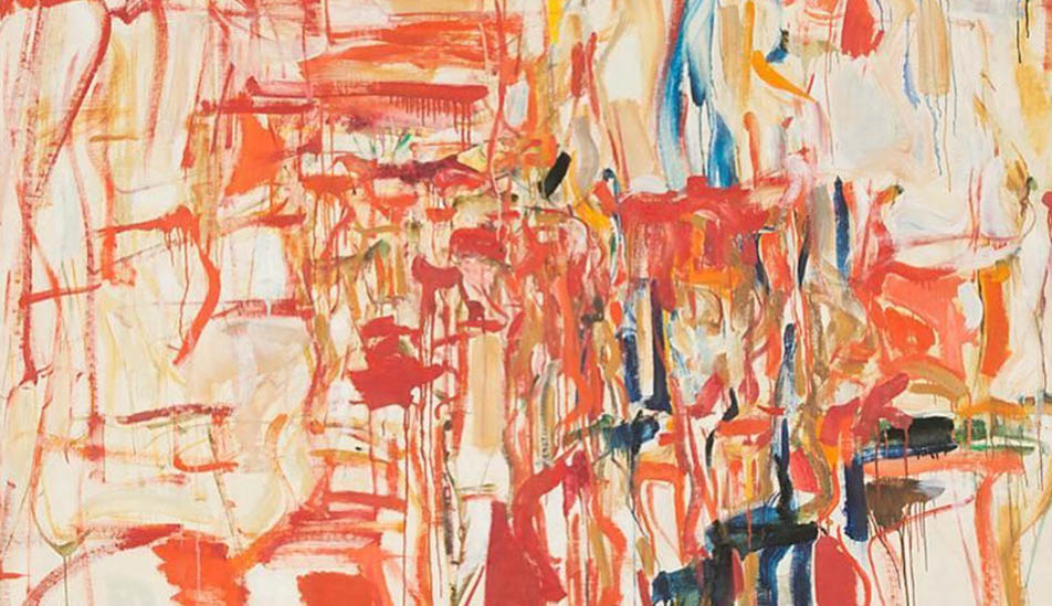 Joan Mitchell Untitled 1956 oil painting at the Ulrich Museum of Art at Wichita State University