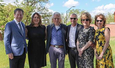 From left: Adam and Ellen Beren, Otterness, Marc and Julie Platt, and Amy Bressman.