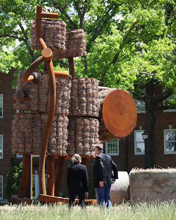 Shockers sculpture