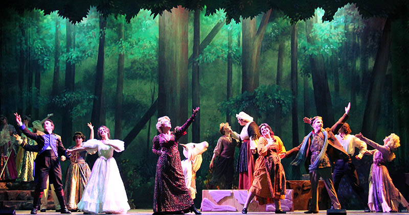 "WSU theater students perform in the musical ""Into the Woods."""