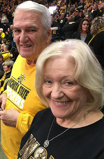 Vic and Ruth Heckart in Charles Koch Arena.