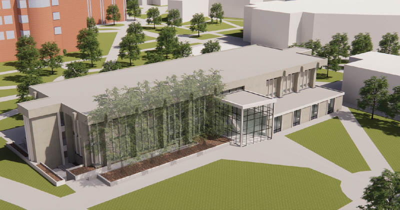 The renovation project will transform Clinton Hall, signifying its new purpose at Wichita State. New entrances, light and airy interior spaces and updated features throughout will create a warm, welcoming and highly functional Shocker Success Center.
